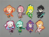 T1419 Anime Sword Art Online rubber Keychain Key Ring straps Rare  A