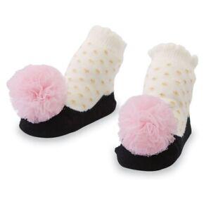 Mud Pie E0 Baby Girl 0-12 months Black Mesh Puff Socks 1542272
