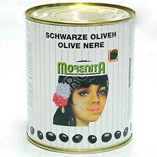 10 x 860g schwarze Oliven Olives in der Dose ohne Kern entkernt - Siyah Zeytin