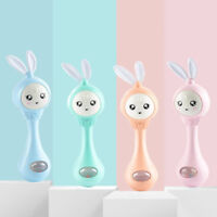 Baby music rabbit bell toy hand bell toy kids hand rattle bell educational toyYF