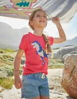 NEW RRP £9.99 Mini Boden Sparkly Dinosaur Printed T-shirt                  (U16)