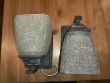 2 Forte Lighting Light Wall Sconces Antique Bronze Finish - Can face up or down