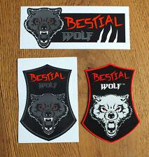 Bestial Wolf 3 X pegatinas Stuntscooter etiqueta stunt scooter Kickboard Wolf (B028)