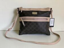 NEW! NINE WEST CORALIA BROWN CASHMERE CROSSBODY MESSENGER SLING BAG PURSE SALE