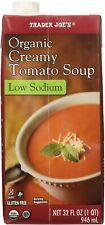 Trader Joe's Organic Creamy Tomato Soup Low Sodium Gluten Free