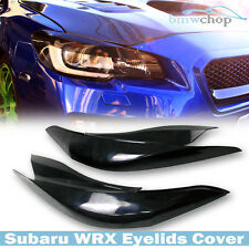 Unpainted for WRX 4th STI SUBARU 4DR Front  Eyelids Eyebrow Headlight Cover 2017