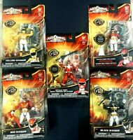 Power Rangers Megaforce Metallic Red Pink Black Yellow Morphin Bandai Figure Lot