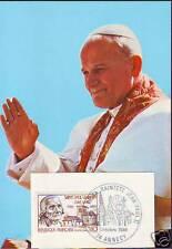 FDC CARTE VISITE  PAPE JEAN PAUL II  EN FRANCE-ANNECY