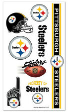 Pittsburgh Steelers Temporary Tattoos 10 Pack [NEW] NFL Face Decal Stickers CDG