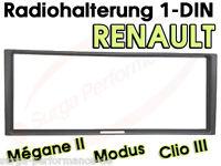 RENAULT Megane II 2 Scenic Modus Clio III 3 Radioblende Radio Rahmen Blende NEU