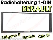 Radio Blende 1 DIN Rahmen für Renault Megane Modus ab 04- Clio 3 >> NEU / OVP <<