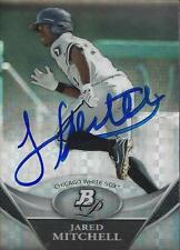 Jared Mitchell Chicago White Sox 2011 Bowman Platinum Refractor Signed Card