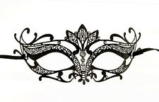 masque venitien loup en dentelle de metal noir soiree carnaval de venise 1270