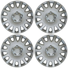 """4 Piece Set 16"""" Inch Hub Cap Silver Skin Rim Cover for Steel Wheel Covers Caps"""