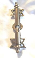 Vintage Religious Icons / Judaism / Scroll Holders / Scrolls / Brass / Metal