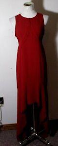 Women's YA Los Angeles Burgundy Full Length Sleeveless Silk Dress Size L