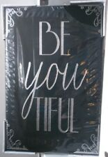 NEXT BLACK/SILVER CANVAS 'BE YOU TIFUL' (BEAUTIFUL)  BRAND NEW PICK UP DN35 7EZ