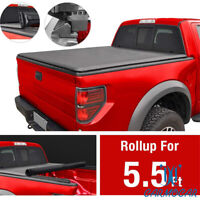 Fit For Ford 2015-18 F150 5.5' Truck Aluminum Frame Roll-Up Tonneau Bed Cover