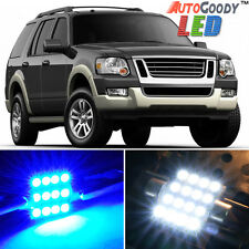 13 x Premium Blue LED Lights Interior Package for Ford Explorer 2002-2010 + Tool