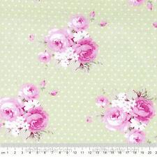 Dottie Roses grün Stoff Rosen Baumwolle Patchwork Slipper Roses Free Spirit