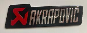 AKRAPOVIC Metal Badge Exhaust Sticker Decal Heatproof 100mm x 25mm