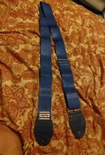 SOULDIER BLUE GUITAR STRAP leather ends free usa ship US MADE XXXX TOUGH
