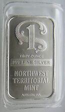 SEALED 1 OZ NWT SILVER BAR .999 PURE NorthWest Territorial Mint