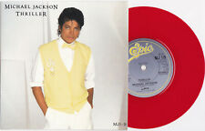 "Michael Jackson THRILLER Disque 45t 7"" RED Vinyl Single Record Disc UK 1983"