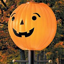 Jacko Lantern Lamppost Halloween Pumpkin Outdoor Lampshade Cover Lamplighter