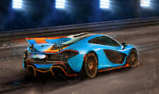 Automotive Motorsport Car Art 2016 McLaren P1 Gulf livery LARGE CANVAS PRINT