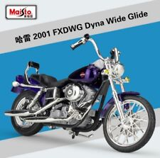 1:18 Maisto Harley Davidson 2001 FXDWG Dyna Wide Glide Bike Motorcycle Purple