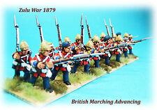 Zulu War 1879 - British Infantry Advancing/Marching x 8