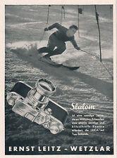 1942 Leica Kamera Slalom Wintersport 8x11 cm original Printwerbung