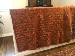 Traditional Antique Indian EmbroideryCollectible Twin Size Cover Wall HangIng