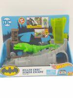 Hot Wheels City Batman Unlimited DC Killer Croc Sewer Escape Playset