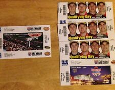 NASCAR LVMC March 2008 Qualfiing weekend tickets Unused