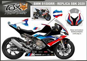 ADESIVI stickers moto KIT per BMW S1000RR 2019 Replica SBK 2020