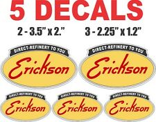 5 Erickson Gasoline Vinyl Decals