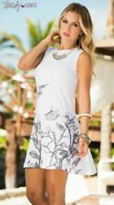 Espiral AM:PM 4892 White Patterned Summer Dress - Medium