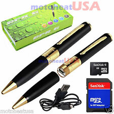 32GB Hidden Spy Rec Pen Cam Camera Nanny DVR Video Recorder Mini Spy Pen Cam NEW