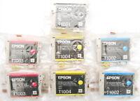 Lot 7 Cartouches d'Encre Origine EPSON Rhinocéros T1001 T1002 T1003 T1004 bliste