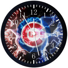 Chicago Cubs Black Frame Wall Clock Nice For Decor or Gifts W340