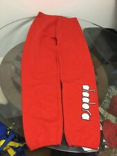 NWT Vintage Men's Diadora Red Athletic Workout Pants Sweatpants XL New W/ Tag