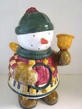 Sakura - Debbie Mumm - Snow Angel Village Cookie Jar - Snowman With Wings