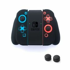 Insten Silicone Skin Gel Shell Case + Style 1 Black Caps For Nintendo Switch