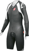 Castelli San Remo 3.0 Speedsuit Cycling Skinsuit Black White Large