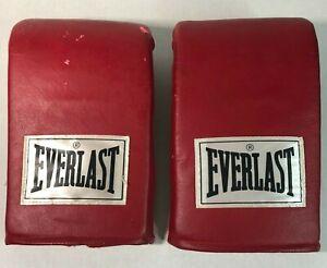 Everlast 4306 Vintage Red Leather Adult Boxing Training Bag Gloves Kickboxing