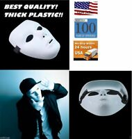 Thick Blank Male The Phantom Dance Crew Group White Face Mask Costume