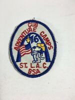 "Vintage Cub Scout Webelos Patch St Louis Adventure Camps 3"" X 2.5"""
