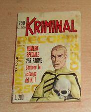 ED.CORNO  SERIE  KRIMINAL   N°  250   1970   ORIGINALE !!!!!